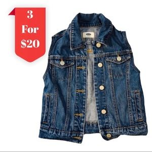 3/$20 Old Navy Jean Collared Vest With Pockets